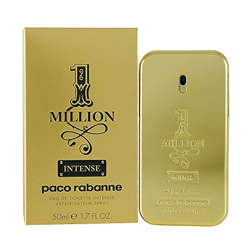 Paco Rabanne 1 Million Intense Eau de Toilette Spray for Men, 1.7 Ounce