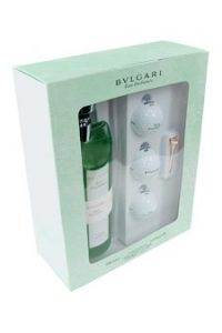 Bvlgari Au The Vert by Bvlgari for Men – 6 pc Gift Set 11.9oz eau parfum, 3 golf balls, silver tee and tee argent