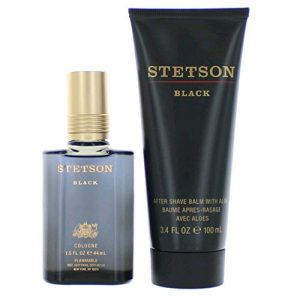 Stetson Black By Coty – Gift Set — 1.5 Ounce Cologne Splash + 3.4 Ounce After Shave Balm
