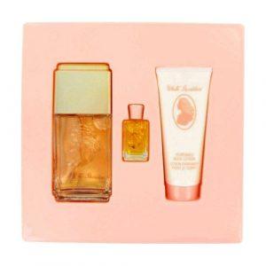 WHITE SHOULDERS by Evyan Gift Set — 4.5 oz Cologne Spray + .25 oz Mini + 3.3 oz Body Lotion