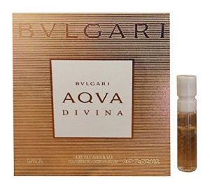 Bvlgari AQVA DIVINA Eau de Toilette Perfume for Women ~ .05 fl. oz. / 1.5 ml Carded Sample Spray Vial