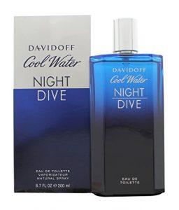 Davidoff Cool Water Night Dive Eau de Toilette Spray Limited Edition, 6.7 Ounce