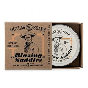 Blazing Saddles Solid Cologne – The Sexiest Cologne Ever – 1 oz – Western leather, gunpowder, sandalwood, and sagebrush in a pocket sized tin – Men's or Women's Cologne