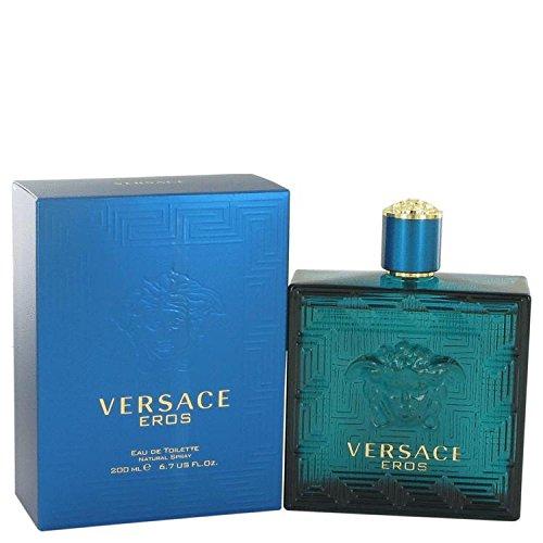 Versace Eros by Versace Eau De Toilette Spray 6.7 oz for Men – 100% Authentic
