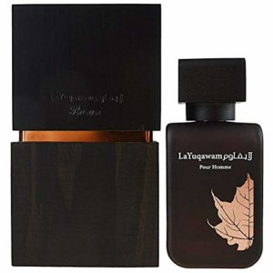 La Yuqawam EDP (Eau De parfum) for Men 75 ML (2.5 oz) | Irresistible Pour Homme Spray | Masculine oudh Woody Notes with alluring flowery notes | Signature Arabian Perfumery | by RASASI Perfumes