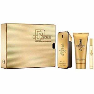 Paco Rabanne 1 Million By Paco Rabanne | 3 Piece Gift Set – 3.4 Oz Eau De Toilette Spray, 0.34 Oz Eau De Toilette Spray, 3.4 Oz Shower Gel | Fragrance For Men