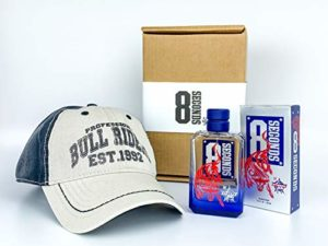 PBR 8 Seconds 2 Piece Holiday Gift Set – includes PBR 8 Seconds Cologne 3.4 oz & PBR Collegiate Baseball Cap with Velcro Closure – Cologne for Cowboys and Bull Riding Fans