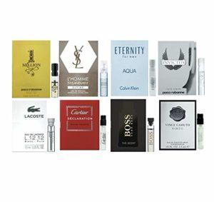 Men's cologne sampler set – ALL High end Designer perfume sample Lot x 8 Cologne Vials (Brandon's Choice)