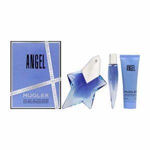 Thierry Mugler Angel By Thierry Mugler 3 Piece Gift Set – 1.7 Oz Eau De Parfum Spray, 0.3 Oz Eau De Parfum, 1.7 Oz Showe
