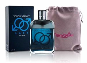 Touche Verdict Dark Men's Eau De Toilette Spray Perfume, Fragrance For Men- Daywear, Casual Daily Cologne Set with Deluxe Suede Pouch- 3.4 Oz Bottle- Ideal EDT Beauty Gift for Birthday, Anniversary
