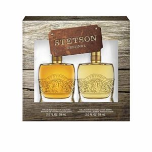 Stetson Original 2-Piece Decanter Set with 2-Ounce Cologne and 2-Ounce Aftershave, Total Retail Value $45.00