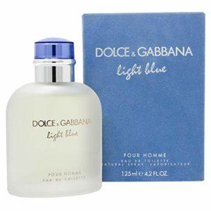 Dolce and Gabbana Light Blue Eau de Toilette Spray for Men, 4.2 Fl Oz