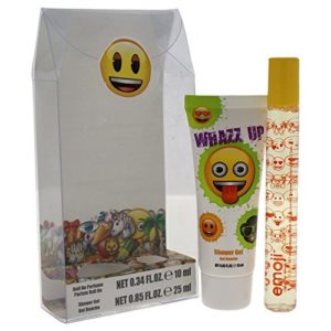 Emoji Whazz Up 2 Peice Mini Gift Set for Kids, Rollerball Perfume, Shower Gel, 2 Count