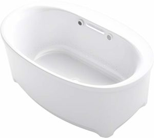 Kohler K-5702-GHW-0 Underscore Oval Bathtub, White
