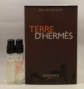 2 Hermes Terre D'hermes EDT Spray Vial Sample .06 Oz/2 Ml Each