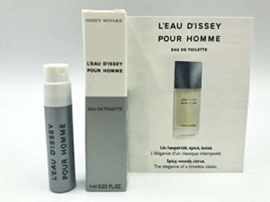 ISSEY MIYAKE L'EAU D'ISSEY POUR HOMME 1.0ml .03fl oz x 1 COLOGNE SPRAY Good Product quality!!