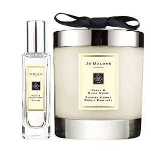 Jo Malone Peony & Blush Suede Cologne Spray 1 Oz & Home Candle 7 Oz