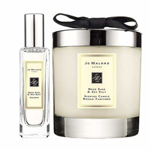 Jo Malone Wood Sage & Sea Salt Cologne Spray 1 Oz & Scented Candle 7 Oz