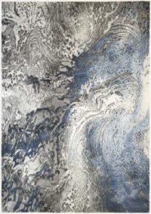 "Mayberry Rugs Splash Area Rug, 7'10″x9'10"", Blue"
