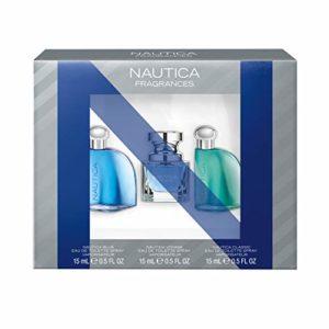 Nautica Eau de Toilette Gift Set, Nautica Blue/Classic/Voyage, 0.5 Ounce, Pack of 3, Total Retail Value $39.00
