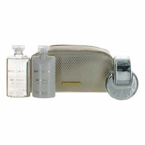 Bvlgari Omnia Crystalline By Bvlgari | 4 Piece Gift Set – 2.5 Oz Body Lotion, 2.5 Oz Shower Gel, 2.2 Oz Eau De Toilette Spray, Beauty Pouch | Fragrance For Women
