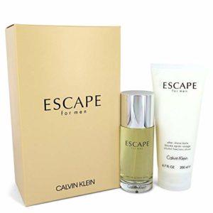 Calvĭn Klȅin ESCAPE Gift Set – 100 ml Eau De Toilette Spray + 200 ml After Shave Balm For Men