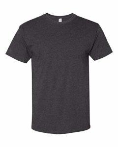 Jerzees Mens TRI-Blend Varsity Ringer T-Shirt (602MR) Black Heather s
