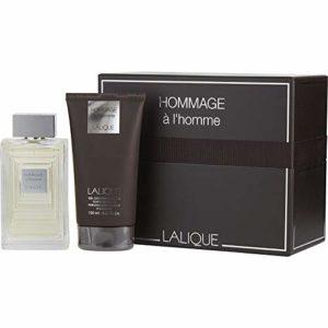 Lâlîqùe Hommage A L'hommè For Men Gift Set: 3.3 oz Eau De Toilette + 5.0 oz Shower Gel