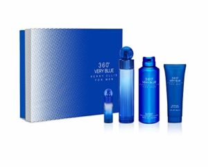 Perry Ellis Fragrances Perry ellis 360 very blue – 4-piece gift set, 3.4 Fl Oz
